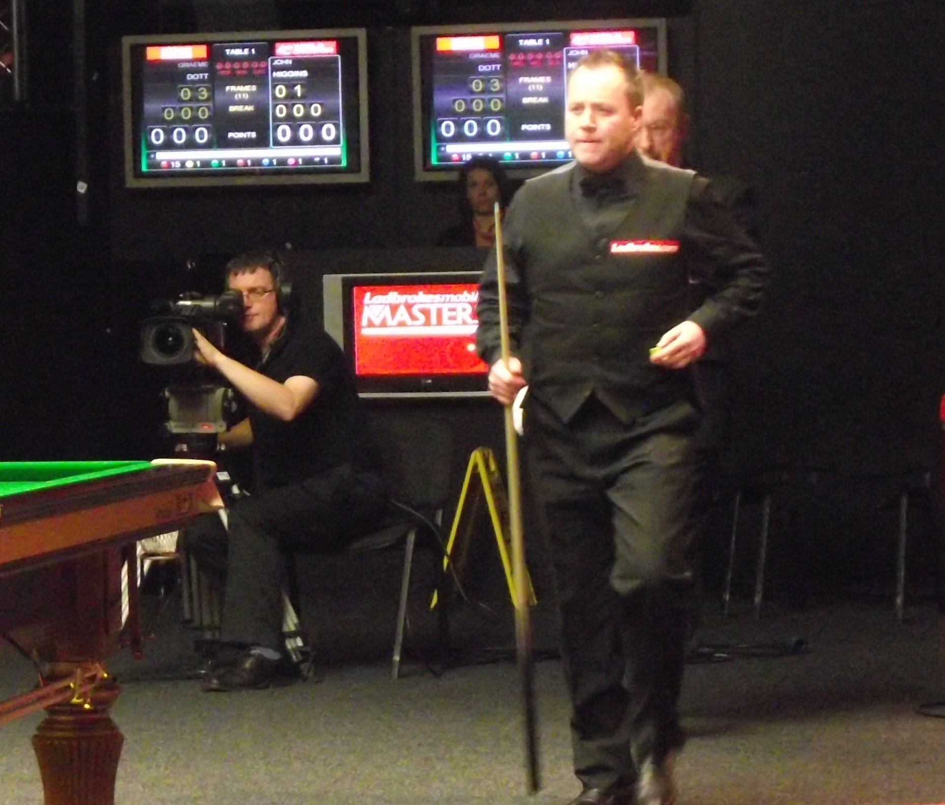 John Higgins at the Masters