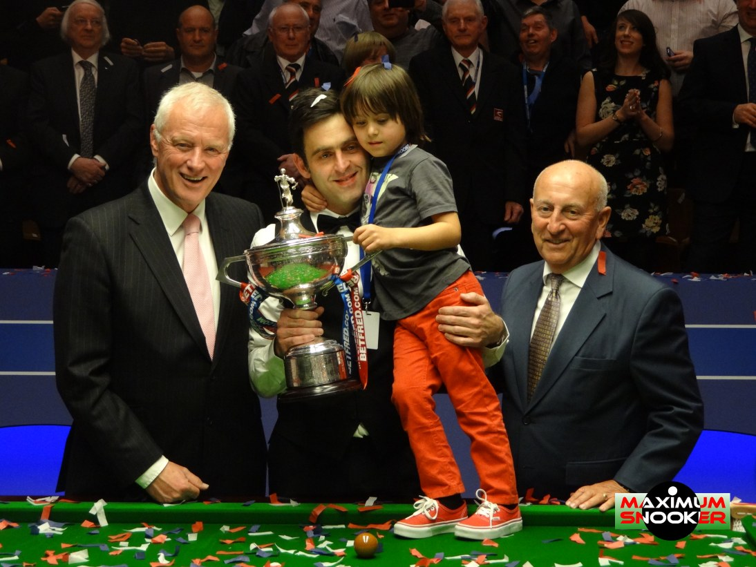 Ronnie O'Sullivan Son Barry Hearn Fred Done World Snooker Championship 2012