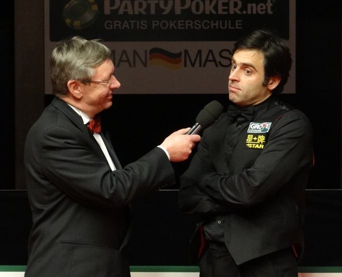 Rolf Kalb Ronnie O'Sullivan German Snooker 2012