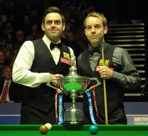 Ronnie O'Sullivan Ali Carter Snooker World Championship Final 2012