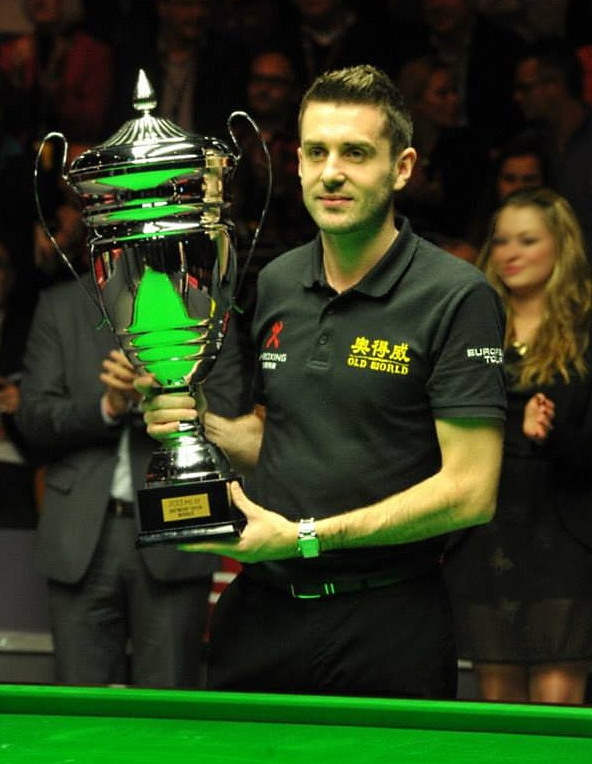 Mark Selby European Tour 7 Antwerp Open Snooker Champion 2013 with Trophy