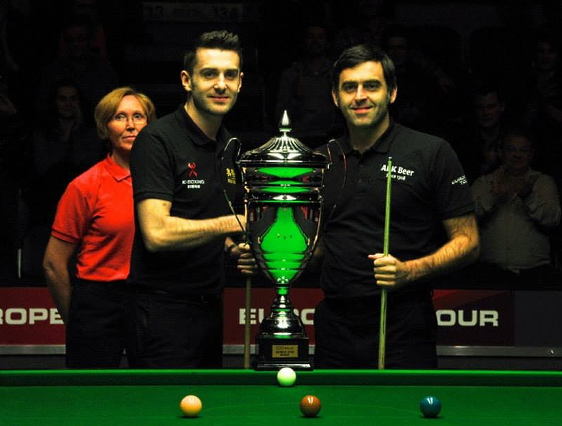 Mark Selby Ronnie O'Sullivan Hilde Moens Antwerp Open 2013 Snooker Final