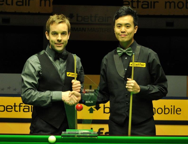 Ali Carter Marco Fu German Masters final 2013
