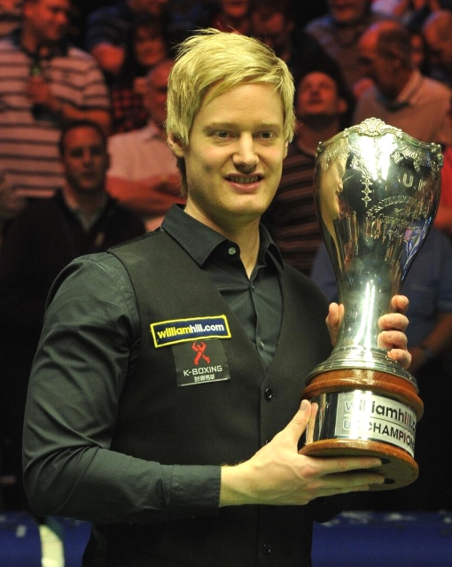 Neil Robertson Snooker UK Championship Champion with Trophy 2013