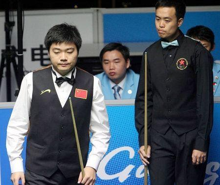 Ding Junhui and Marco Fu