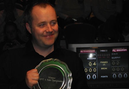 John Higgins wins EPTC5