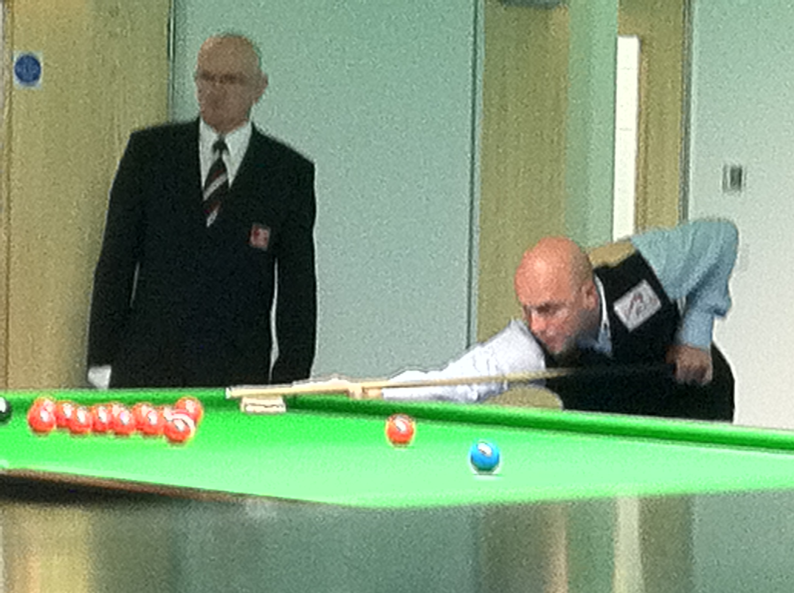 Mark Williams & Ding Junhui at the Masters