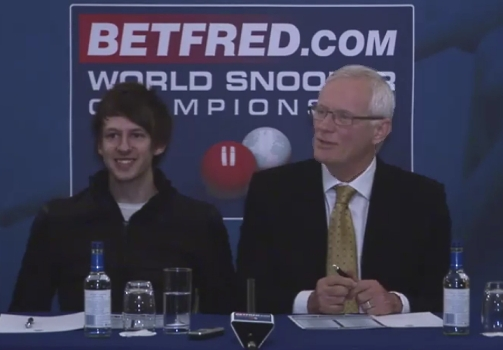 Barry Hearn Judd Trump Betfred Snooker World Championship Launch 2011